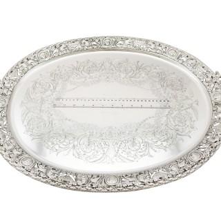 Sterling Silver Tea Tray by Mappin & Webb Ltd - Antique Victorian (1894)