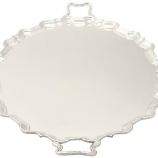 Sterling Silver Two-Handled Tea Tray by Thomas Bradbury & Sons - Antique George V