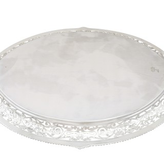 Sterling Silver Tea Tray - Antique Edwardian (1904)