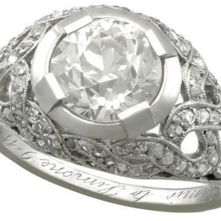 2.30 ct Diamond and Platinum Dress Ring - Antique Circa 1900