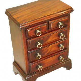 Georgian Antique 18th Century Mahogany Miniature Chest