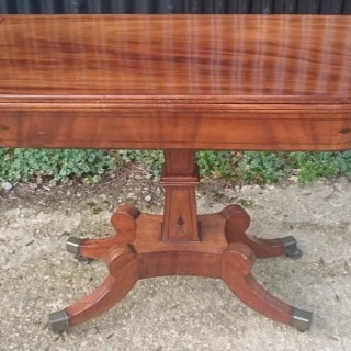 Early 19th Century Regency Mahogany Antique Card Table or Tea Table