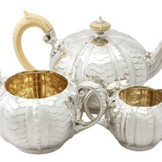 Sterling Silver Three Piece Tea Service - Antique Victorian (1895)