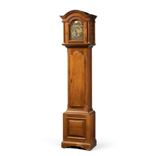 A Most Attractive Early 20th Century Walnut Grandmother Clock