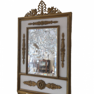 Late 19th Century Marble And Bronze Table Mirror