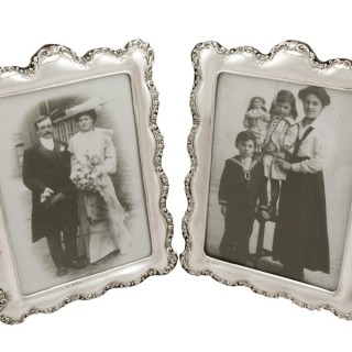 Sterling Silver Photograph Frames - Antique Edwardian