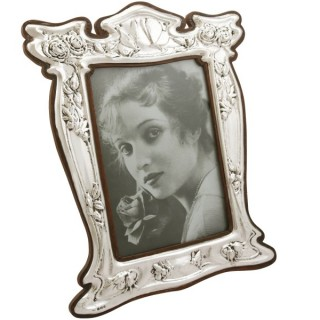 Sterling Silver Photograph Frame - Art Nouveau - Antique Edwardian (1907)