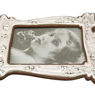Sterling Silver Photograph Frame - Art Nouveau - Antique Edwardian (1907)