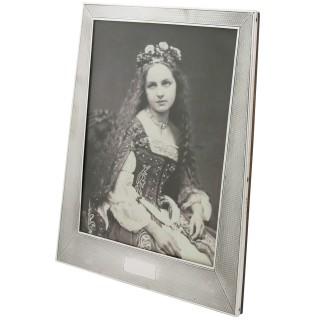 Sterling Silver Photograph Frame - Art Deco - Antique George V (1924)