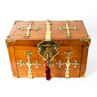 Antique Louis XIV Kingwood and Gilt Bronze Strongbox Coffre Fort 17th C