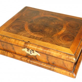 Queen Anne Laburnum Oyster Veneered Glove Box