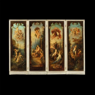 A Dramatic and Decorative Screen in the Manner of François Boucher