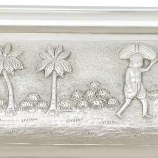 Indian Silver Two-Handled Tea Tray - Antique Circa 1880