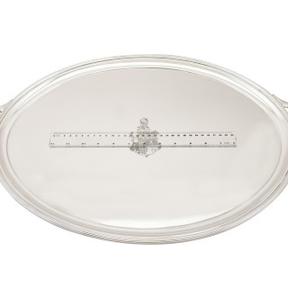 Sterling Silver Tray - Antique George IV (1826)