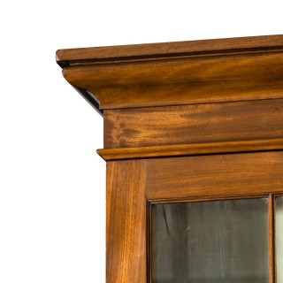 A Late Regency Mahogany Breakfront Bookcase