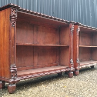 Pair of Early 19th Century Regency Bookcases