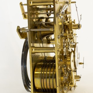 English fusee Carriage Clock with Perpetual Calendar