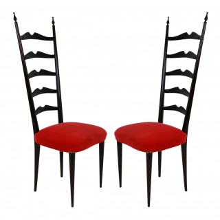 A PAIR OF ELEGANT PAOLO BUFFA CHAIRS