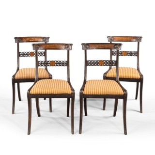 A Most Attractive Set of 4 Regency Period Chairs