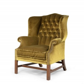 An Attractive Mid 20th Century Wing Chair of Chippendale Design