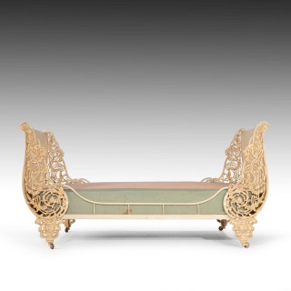 An Unusual Early 20th Century French Cast Iron Bed
