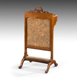 An Unusual Mid 19th Century Mahogany Framed Fire Screen