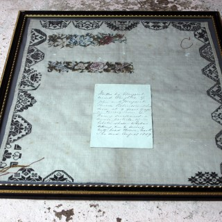 A Poignant George III Period Unfinished Sampler by Margaret Penrose Robinson c.1809