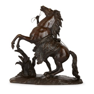 Pair of bronze equestrian 'Marly Horses' after Guillaume Coustou