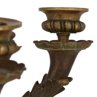 Belle Époque period gilt bronze candelabra