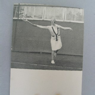 Tennis Flicker Book, No.7. Miss Betty Nuthall