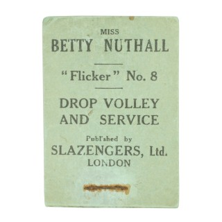 Tennis Flicker Book, No.8. Betty Nuthall