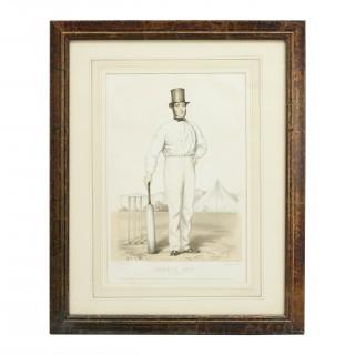 Cricket Print of Joseph Guy of Nottingham