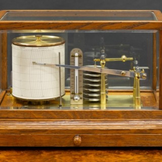 Edwardian Oak Cased Barograph by Negretti & Zambra, London