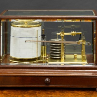 Edwardian Mahogany Cased Barograph by Negretti & Zambra, London