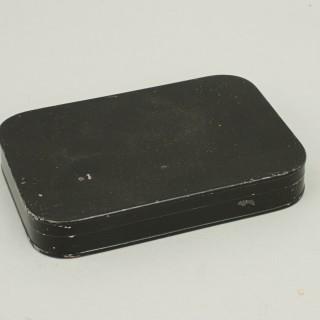 Vintage Black Japanned Dry Fly Box