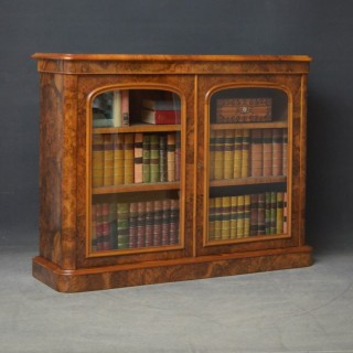 Rare Victorian Walnut Bookcase