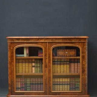Rare Victorian Walnut Bookcase