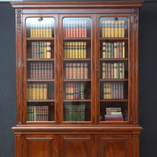 Victorian Mahogany 3 Door Bookcase by John Taylor ans Son, Edinburgh
