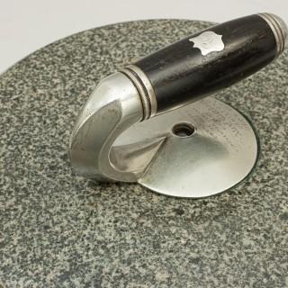 Antique Pair of Presentation Curling Stones