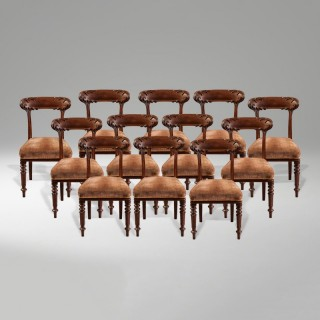 A Rare Set of Twelve Dining Chairs of the Georgian Period By Howard & Sons
