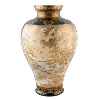 Large Satsuma Vase Signed Gyokusen