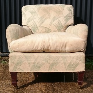 Antique Easy Armchair In The Style Of Howard And Sons