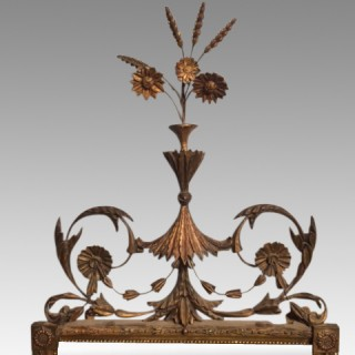 Geo III  carved giltwood pier mirror.