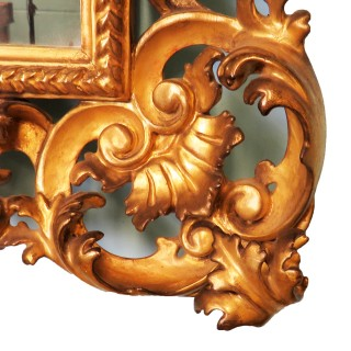 18th Century Pair Of Italian Florentine Giltwood Wall Mirrors
