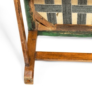 A Generous George III Mahogany Wing Arm Chair