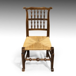 An Attractive Mid 19th Century Elm Spindleback Chair