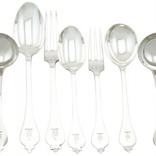 Sterling Silver Canteen of Cutlery for Twelve Persons - Antique (1917) and Vintage (1968)