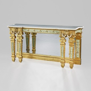Gilt wood Console Table in the Manner of Robert Adam
