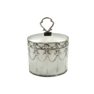 Antique Edwardian Sterling Silver Caddy 1905