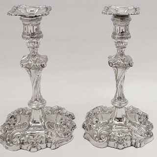 Antique Silver Candlesticks